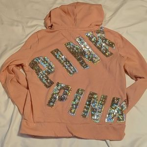 VS Pink Zipper Up Hoodie